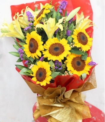 6 pieces Sunflower with Lilies