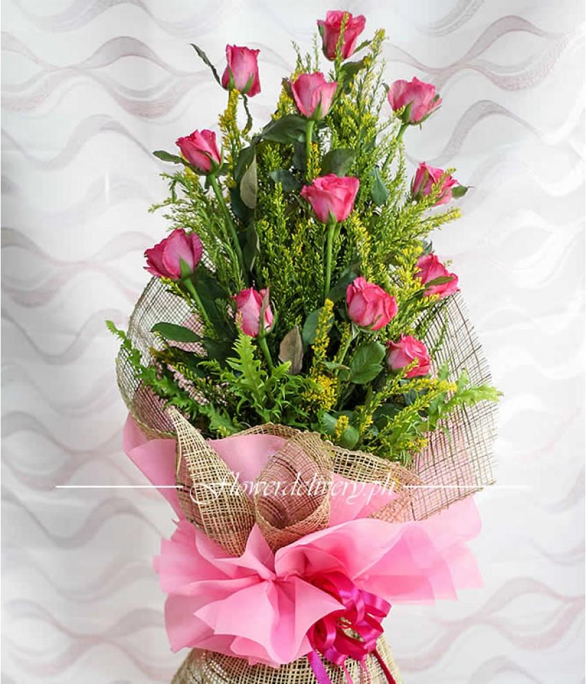 1 dozen pink roses izmirmasajfo
