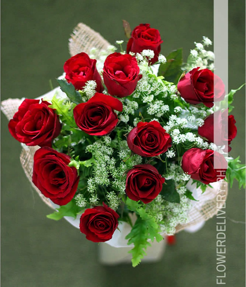 Flower shop manila online flower shop manila by flowershopmanila 1 dozen red roses round bouquet izmirmasajfo