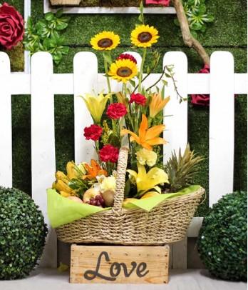 Elegant Floral Fruit Basket